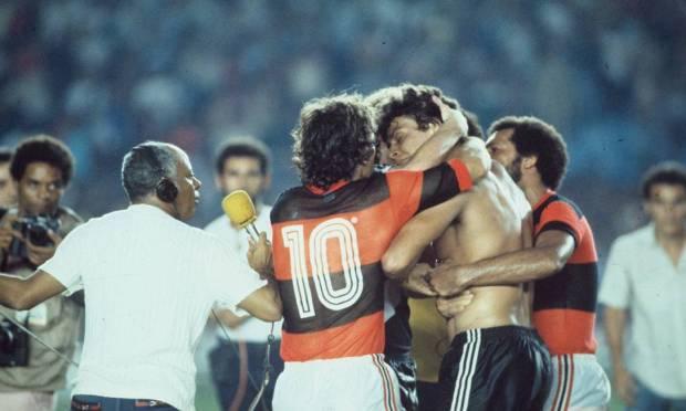 16th - FLAMENGO (1983) - Flamengo in a match against Vasco, for the 1983 Brazilian Nationals Photo: Anibal Philot/Agência O Globo