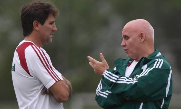 Renato Gaúcho had Valdir Espinosa as a technical assistant at Fluminense Photo: Jorge William / Agência O Globo - 08/04/2009