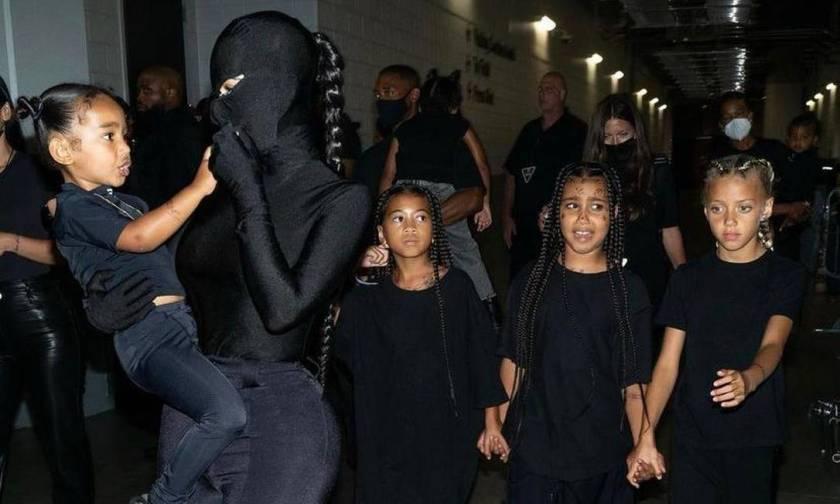 Kim Kardashian and her children Photo: Reproduction
