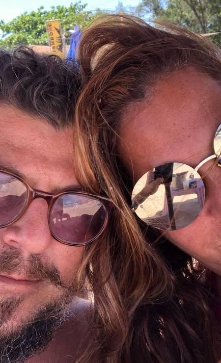 Sérgio Stamile, 41, and Carla Daniel.  Businessman was found dead in Garota de Ipanema Park Photo: Reproduction / Instagram