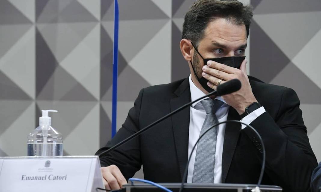 O incidente Emanuel Catori, sócio da Belcher, negou na sessão da CPI da Covid que a empresa teve tido um