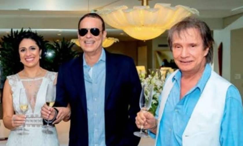 Singer Roberto Carlos attends his son's wedding, Dudu Braga Photo: Reproduction