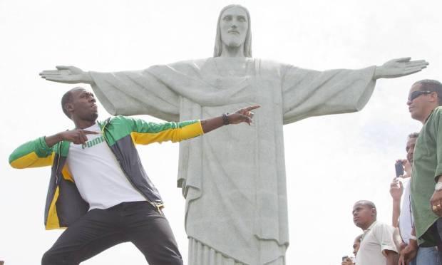 Jamaican sprinter Usain Bolt, two-time Olympic champion, in 2012 Photo: Ivo Gonzalez / Agência O Globo