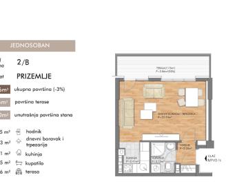Prodaja – 34 m2, stan u izgradnji