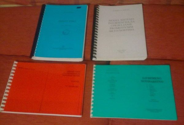 Fakultetska literatura (po knjizi), sem. i dipl. radovi