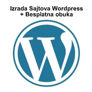 Izrada wordpress sajtova + Besplatna obuka za rad