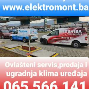 AKCIJA !!! OVLAŠTENI SERVIS klima uređaja Banjaluka-popravka,ugradnja,prodaja i montaža klima Elektromont Banja Luka 065 566 141