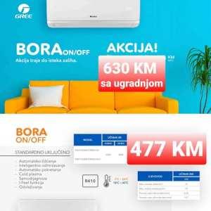 AKCIJA !!! AKCIJA-Klima Gree12 BORA 2021 sa ugradnjom 630 KM Elektromont Banja Luka 065 566 141