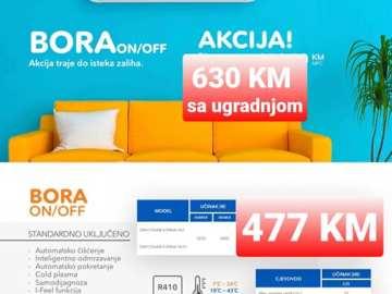 AKCIJA !!! Klima Gree Bora12 NOVI MODEL 20121 sa ugradnjom 630 KM Elektromont Banja Luka 065 566 141