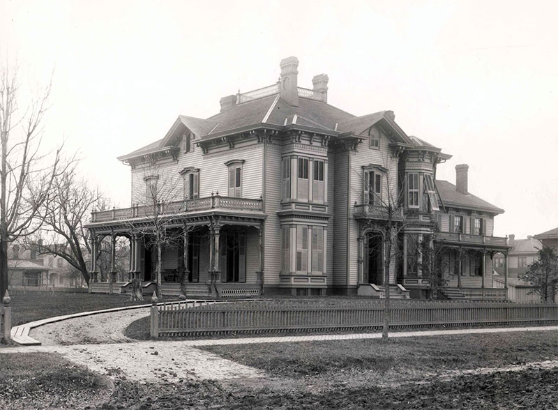 Oglesby Mansion in the 1880s