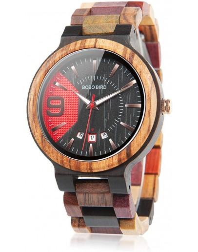 Унисекс дървен часовник - Manhattan