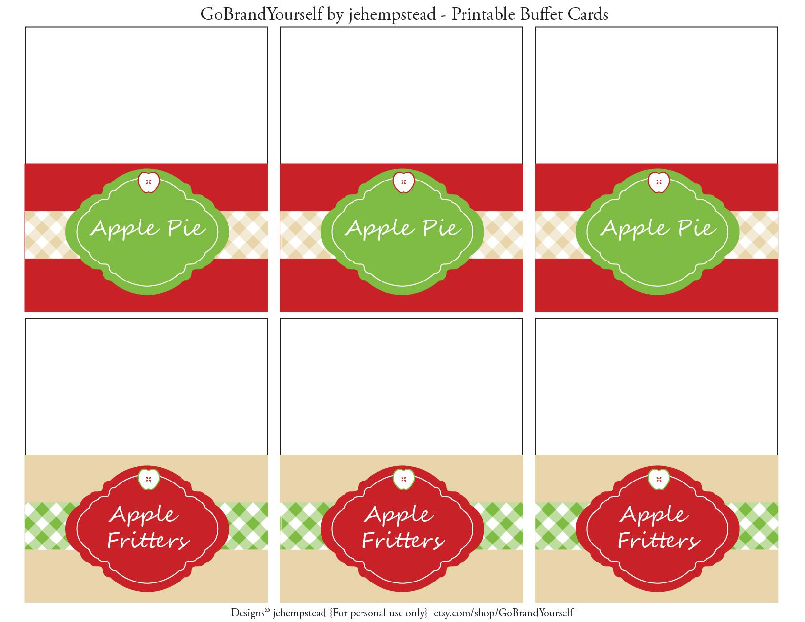 Apple Party Favorites Free Apple Printables