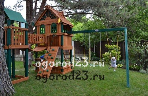 Спортивный комплекс для детей на дачу: турник, качели ...