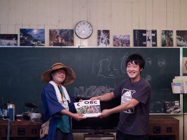 ちゃんちき堂さんがOBC活動報告書vol.3をゲットするために小河内まで来てくれました!!