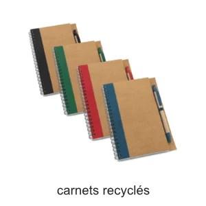 carnets recyclés