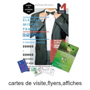 cartes de visite flyers affiches