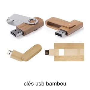 clés usb bambou