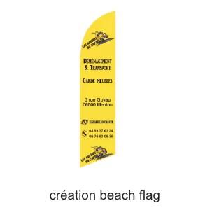 création beach flag