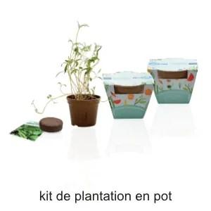 kit de plantation en pot publicitaire ografx
