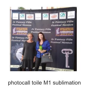 photocall toile M1 sublimation personnalisable ografX