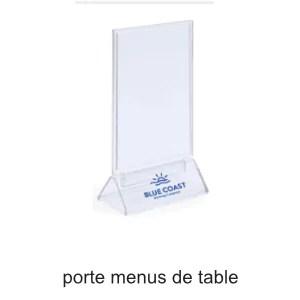 porte menus de table personnalisable ografX