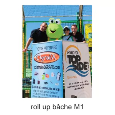 roll up bâche M1 personnalisable ografX