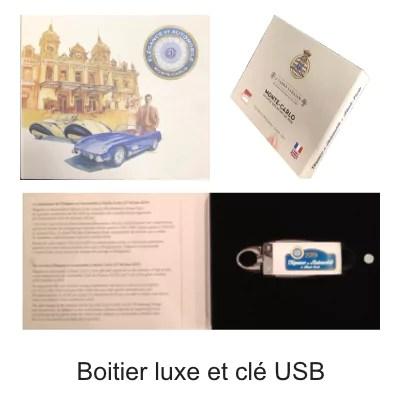 Clé USB imprimée dans un coffret élégant
