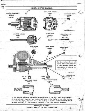 Lionel 671 Motor Repair Parts? | O Gauge Railroading On