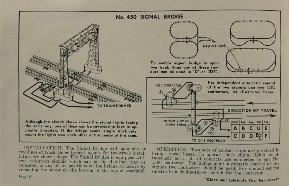 Lionel 450 Signal Bridge Wiring For 2 Trains