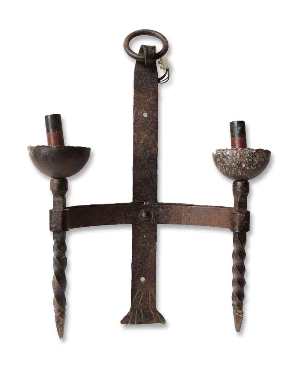 Set of Three European Wrought Iron Wall Sconces | Olde ... on Wrought Iron Sconces Wall Lighting id=21850