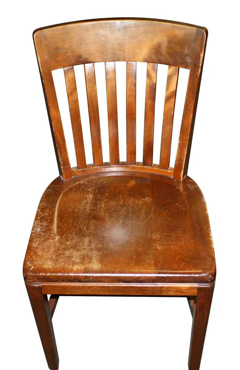 Wooden Armless Banker Chairs