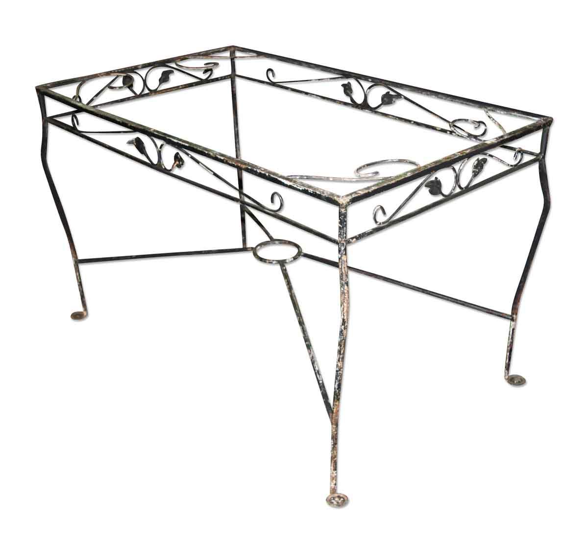 Black Iron Patio Table Base