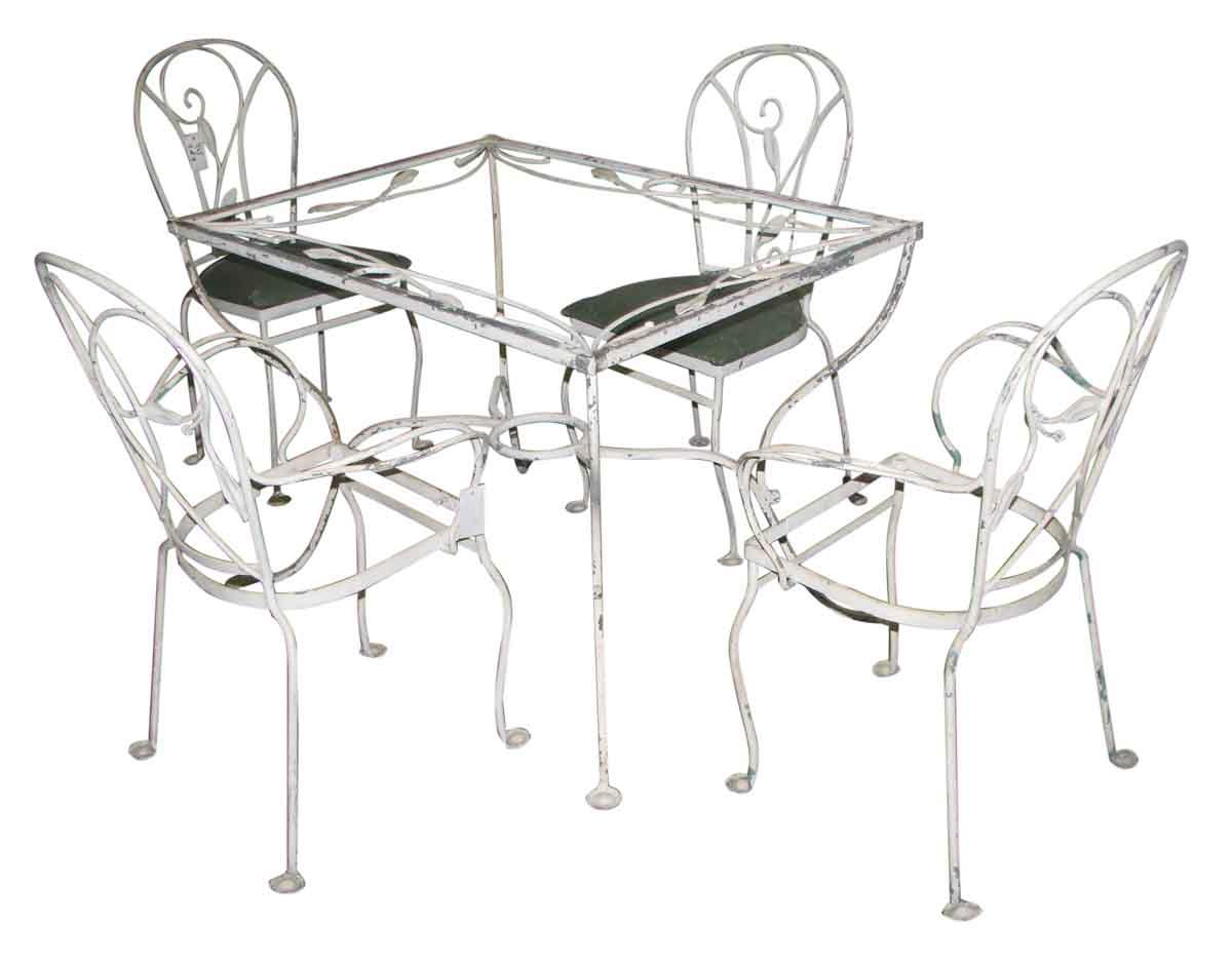 salterini wrought iron patio table chairs
