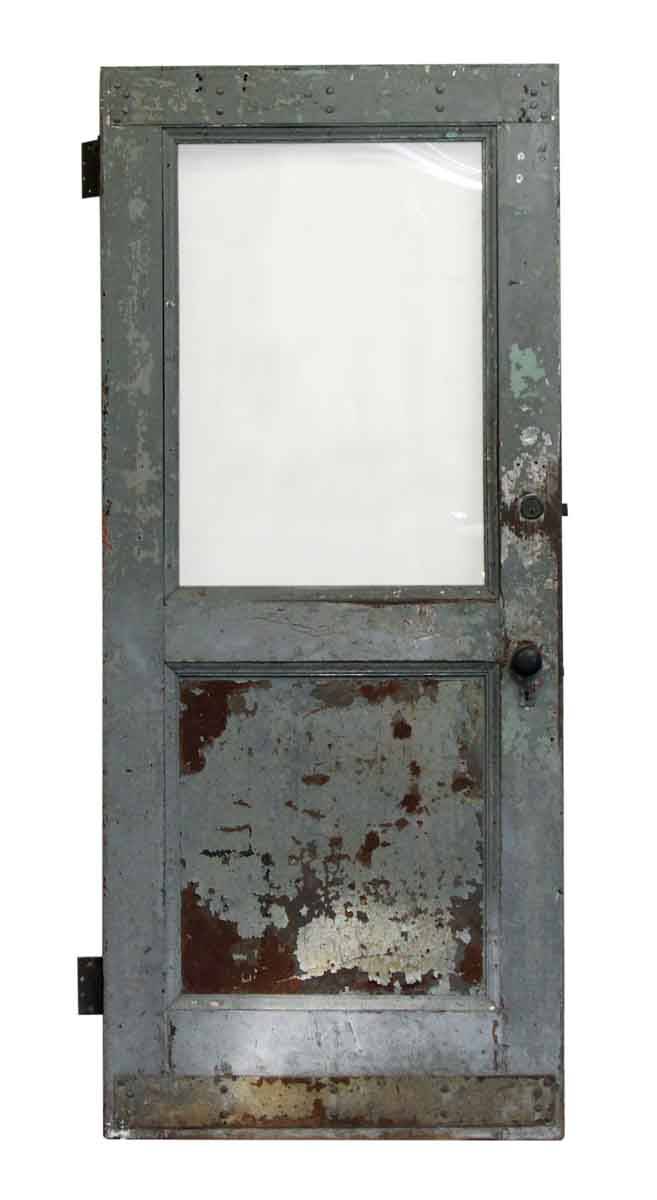 Single Glass Panel Metal Door Olde Good Things