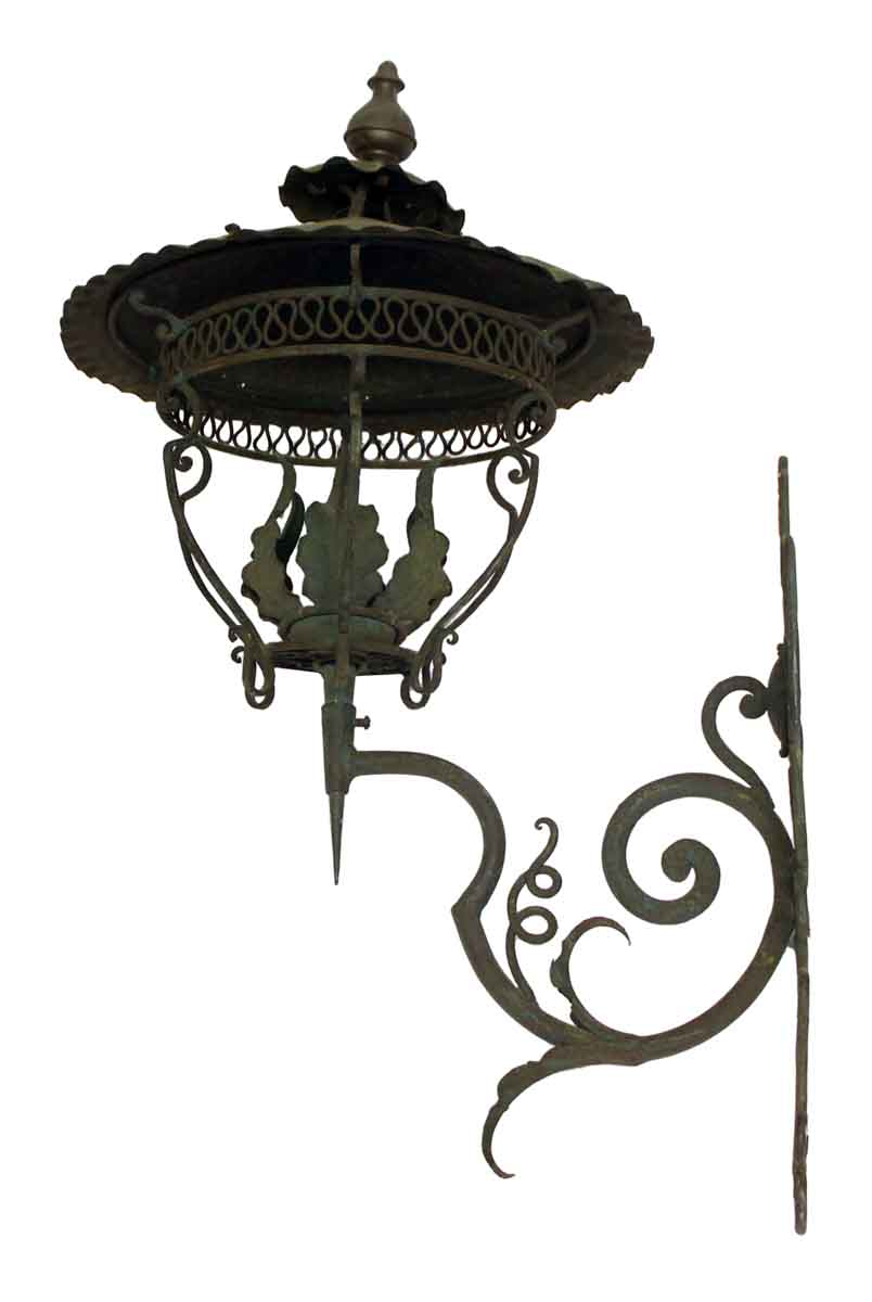 Wrought Iron Wall Sconce Lantern | Olde Good Things on Wrought Iron Sconces Wall Lighting id=92981