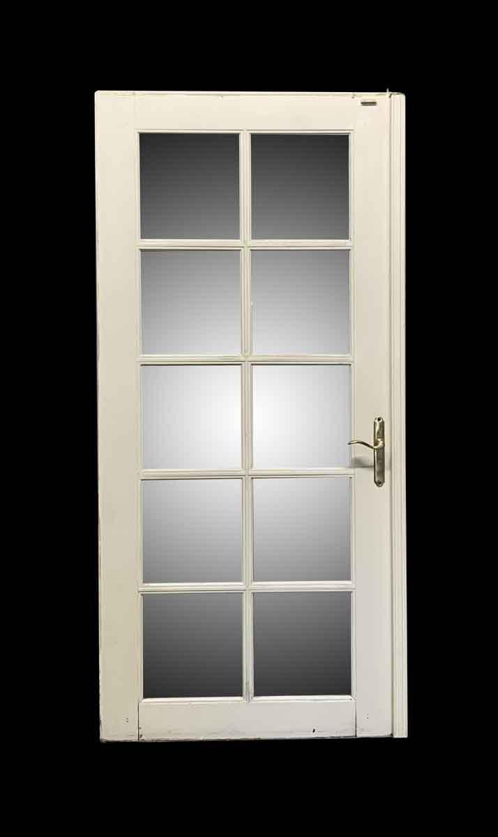 Antique Wooden White 10 Lite French Door 79 5 X 37 5