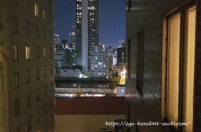 リーガロイヤルホテルUSJコラボルーム 窓からの眺め(夜景)
