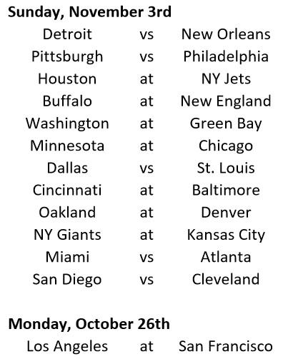 Week 8 Schedule