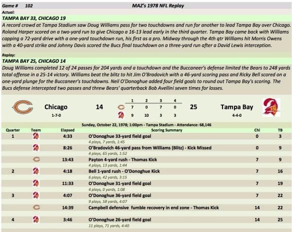 Game 102 Chi at TB