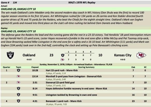 Game 134 Oak at KC