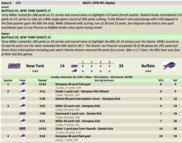 Game 173 NYG at Buf
