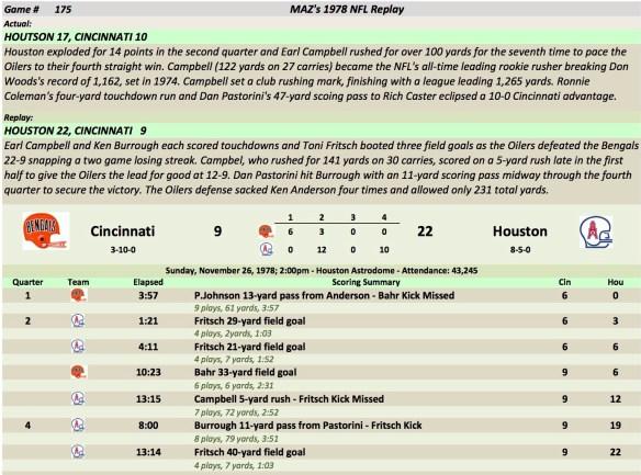Game 175 Cin at Hou