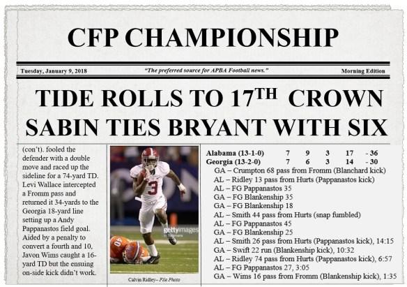 CFP Championship (2 of 2)