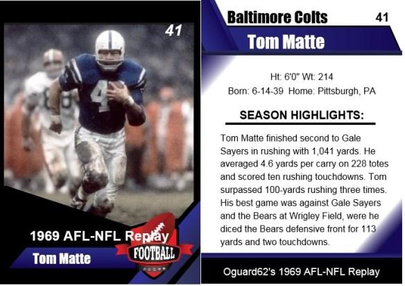 1969 - tom matte card