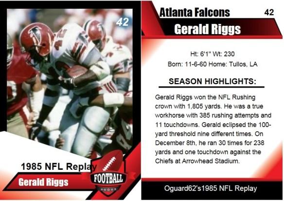 1985 gerald riggs card