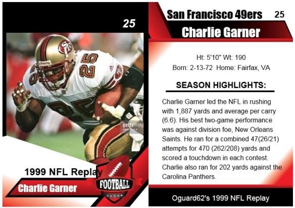 1999 - charlie garner card