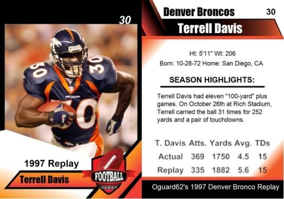 1997 - Terrell Davis Card