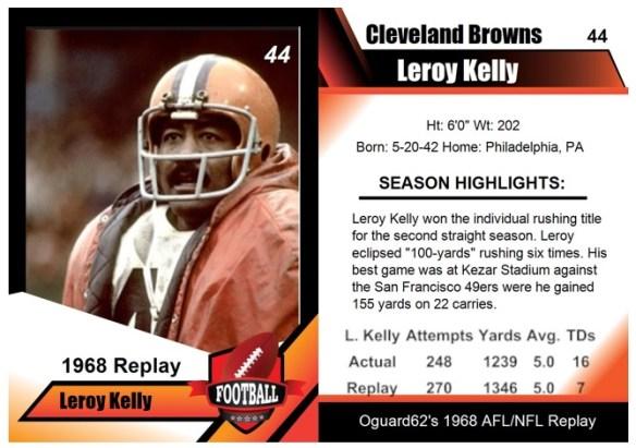1968 - Leroy Kelly Card