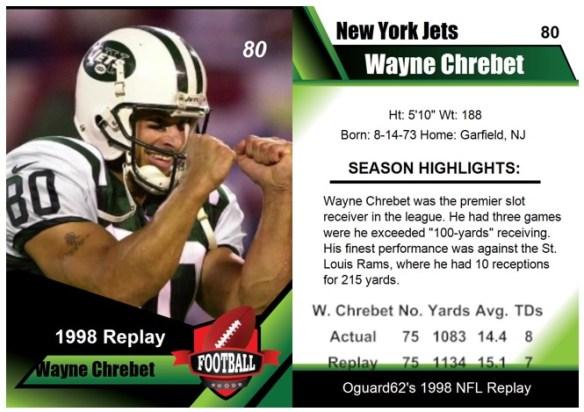 1998 - Wayne Chrebet Card