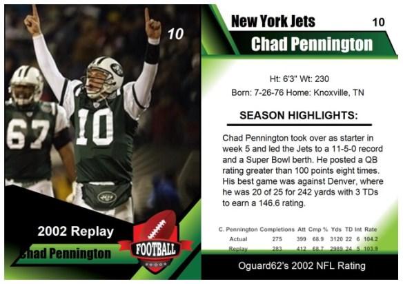 2002 - Chad Pennington Card
